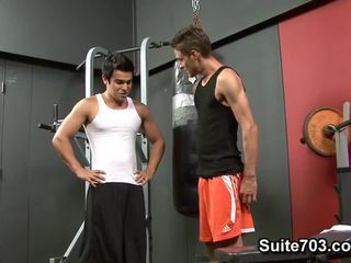 Cody Springs Receives Drilled By Chad Davis In The Gym