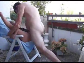 Mature Couple Balcony Fuck, Free Outdoor Porn 16