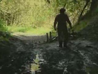 lány, erdő, rape