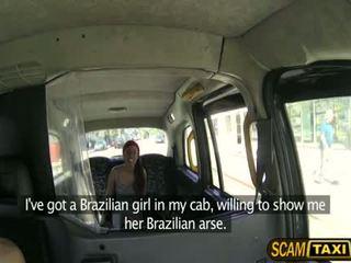 Seksuālā brazīlieši skaistule gets a skoti dzimumloceklis uz the aizmugurējais sēdeklis un pounds viņai grūti