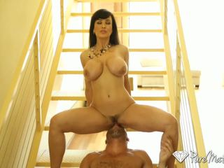 PureMature - Big breasted cougar Lisa Ann fucks a younger dick
