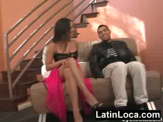Columbian chica chick fucked on the stairs