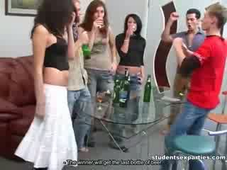 school girl Disco Party and Intense group Sex