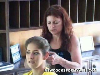 nieuw hoorndrager, mengen video-, kijken wife fuck neuken