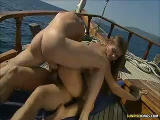 Rita Faltoyano Double Penetration On The Yacht