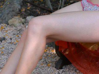 vers neuken verrassing haar, meisje neuken haar hand vid, eet haar voeten tube