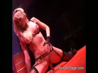 Nasty stripper teases on stage