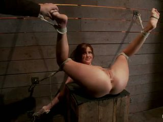 Cute 20yr Old Girl Next Door Bound With Legs Up Spread Foot Torture Caning Finger Banged Hard