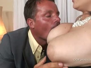 Brunette Kristi Love Gets Her Busty Tits Fucked And Her Fascinating Pussy Licked