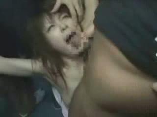 יפני, ילדה, groped, brutally