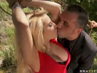 Madison Ivy Hot Babe Doing A Oral In The Forest