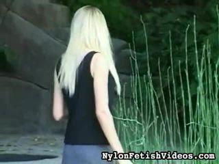 blondinen, bezaubernd sehen, verführerisch