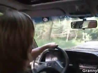 Auto driver bangs granny hoor