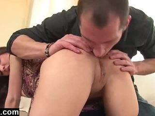 brunette, jong, assfucking scène