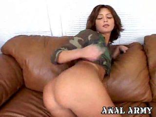 réel brunette vérifier, plein fuck dur, agréable anal grand