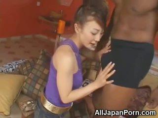 Aprótermetű ázsiai sucks 10 inch fekete fasz!