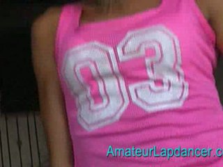 Sporty teen lapdancing Video
