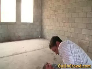 Twink Having Homosexual Sex On The Construction