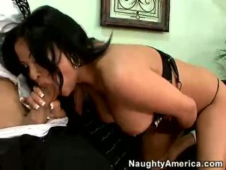 Breasty LaTina Sophia Lomeli Blows A Massive Hard Cock