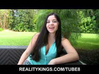 groot brunette video-, kijken jong thumbnail, schoonheid neuken