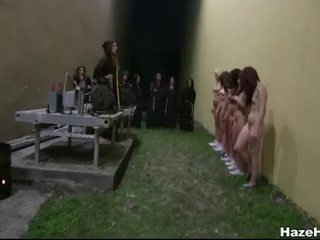 Poor amateur girls dyke out in a hazing