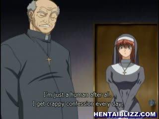 Hentai suora gets scopata da perversi priest