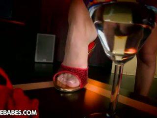 Footsie Babes: Red hot Mandi will make you cum at her feet