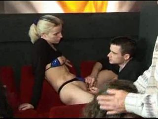 Orgy at cinema Video