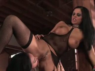 Constricted Chick Amber Rain Enjoying A Groupie LesBian Actionion With Her Fellas