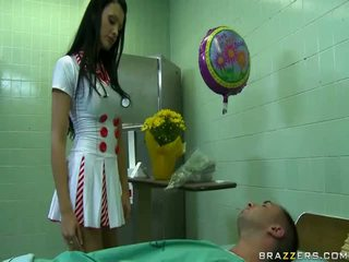 Sexy Doctor Ready To Make Happy Her Patient Uncovered