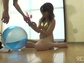 Horny Japanese babe in need of pleasure