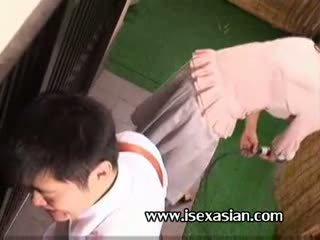 Asian mature an aunt need sex with two young student