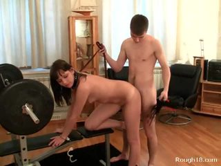 Gora puts his bitch on a leash