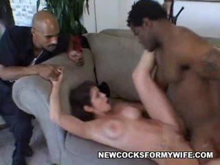 groot hoorndrager scène, heet mengen, controleren wife fuck vid
