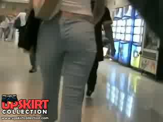 The hidden in my cloths was voyeuring this amazing girl in the jeans hot pants