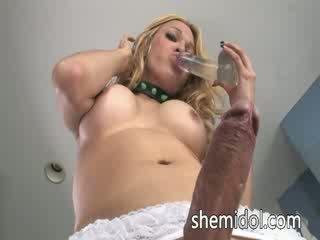Pretty blondie with brutal shaft
