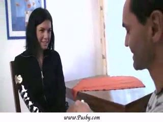 Shy Perfect Girl with Old Doctor