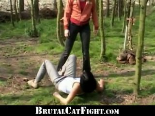 Pervert Owner Mades Two Girls Catfighting