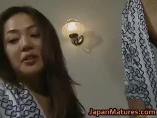Horny Japanese Mature Babes Sucking Part3