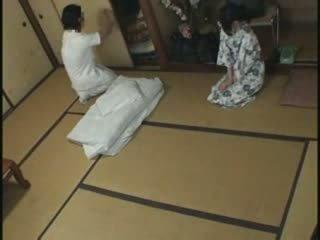 japansk, fan, massage, hemmafru