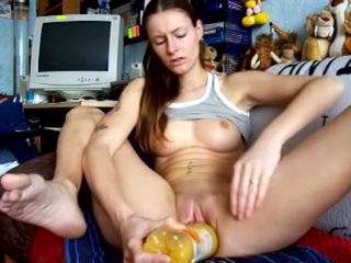 brunette full, squirting you, toys