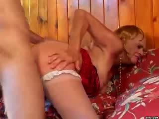 Mature woman teaches chick dude in sex