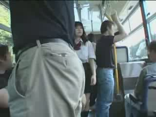 Japanese Schoolgirl and Maniac In Bus Video