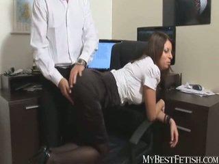 spanked, office, secretary