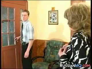 online granny, quality old+young thumbnail, russian clip