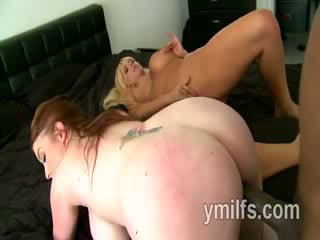 Extremely hot mature whores Desiree and Karen are involved in wild Three Some with big ebony man