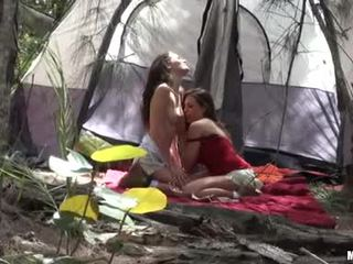 Renna RyAnn Giving A Kiss With Her Camping Hot Buddy