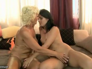 Grandmother And Teen Having Lesbian Funtime