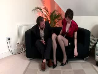 Eager guy cant resist and gets his dick out to fuck mature slut