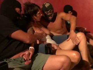 brunette, group sex, french, gangbang